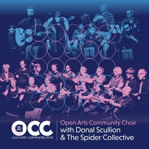 Promo picture of the choir and Donal Scullion and The Spider Collective